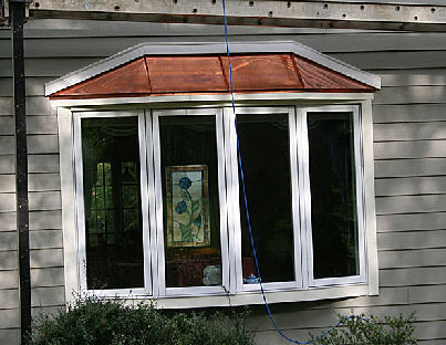 Great Above: Andersen Bow Window   Copper Roof   Fiber Cement Siding