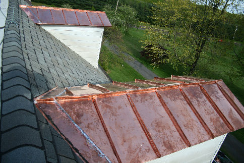 STANDING SEAM COPPER ROOFING