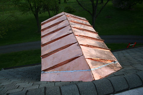 Copper standing seam roof home design for Copper standing seam roof