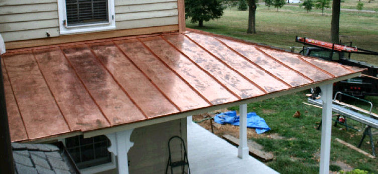 standing seam roof color chart cost per square copper details m2