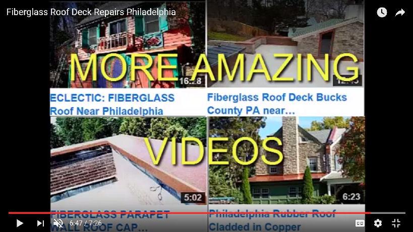Fiberglass Roof Deck Repair Philadelphia PA