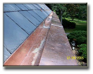 Box Gutters Built In Gutters Yankee Gutters Slate Roof Repair