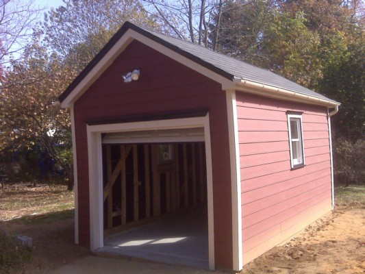 Custom Garage to Match Folk Victorian Bucks County