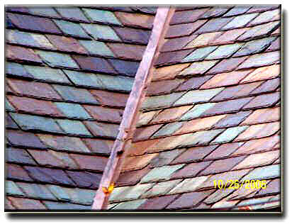 Authentic Purple, Green, Sea Green Vermont Slate Roof