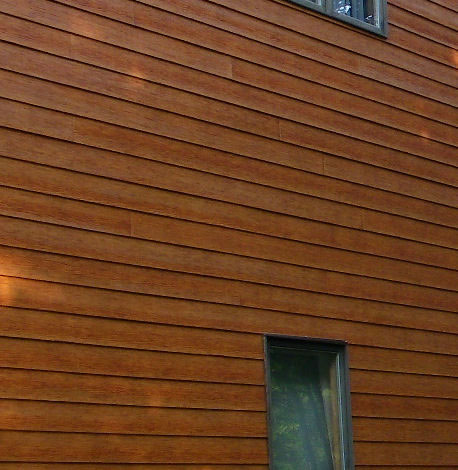 Stained Fiber Cement Siding Home Design