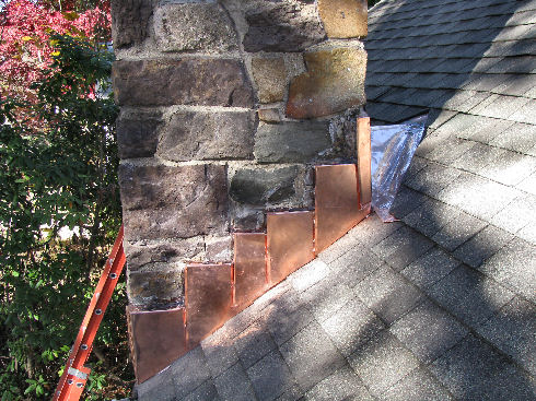 asphalt shingle roof copper flashing
