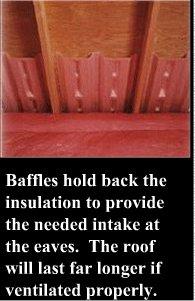 Insulation baffles