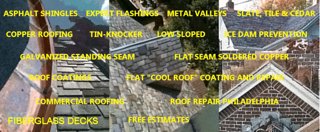 Roofing Links for the types of roofing we service in the Philadelphia area.
