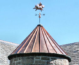 copper roof turret
